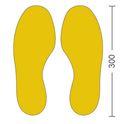 Golvmarkering, symbol Fot
