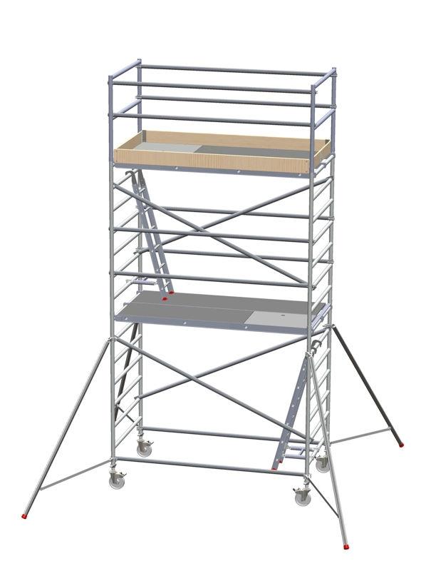 Rullställning Delling Proffs, LxB 2450x1350 mm, höjd 4200 mm