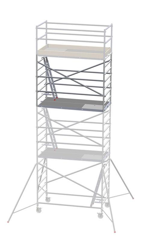 Påbyggnadssats till Rullställning Delling, LxB 2450x1350 mm, höjd 2000 mm