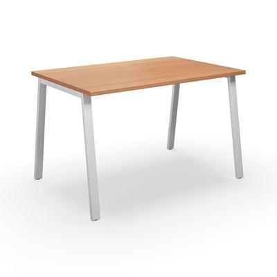 Skrivbord Duo-A, rak skiva, LxB 1400x800 mm, bok/vit