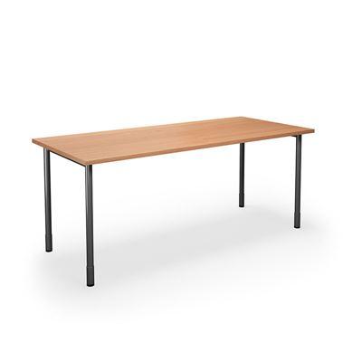 Skrivbord Duo-C, rak skiva, LxB 1800x800 mm, bok/svart