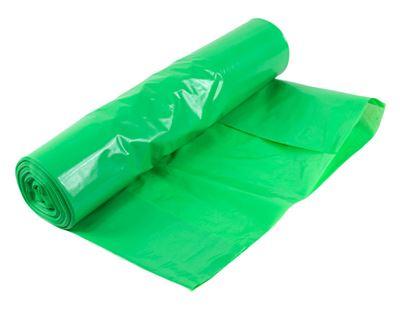 Sopsäck, 70 liter, 600x900 mm, 50my, grön, extra stark