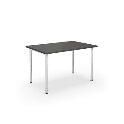 Skrivbord Duo-C, rak skiva, LxB 1200x800 mm, mörkgrå/vit