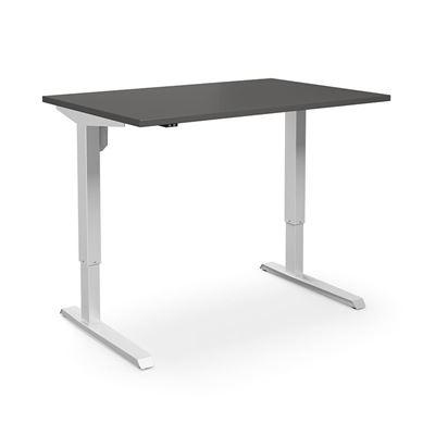 Höj och sänkbart skrivbord Venla, rak, LxB 1200x800 mm, mörkgrå/vit