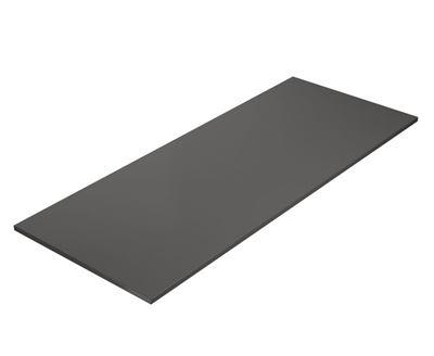 Skrivbordsskiva Rak, LxB 2000x800 mm, mörkgrå