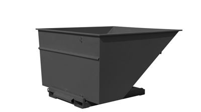 Tippcontainer Argos 3000 L, LxBxH 2073x1866x1248 mm, svart