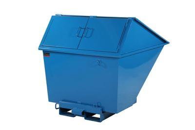 Tippcontainer Argos med högt lock 1100 L, LxBxH 1525x1230x1295 mm, blå