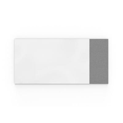 Whiteboard Lintex Air Textile, BxH 2580x1190 mm, ljusgrå