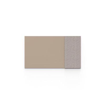 Whiteboard glas Mood Fabric, BxH 1750x1000 mm, brun