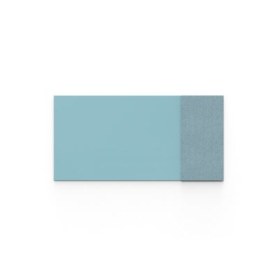 Whiteboard glas Mood Fabric, BxH 2000x1000 mm, blå