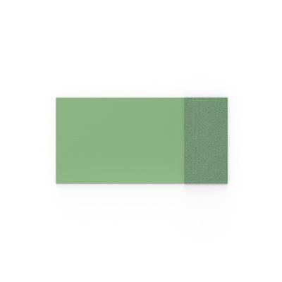 Whiteboard glas Mood Fabric, BxH 2000x1000 mm, grön