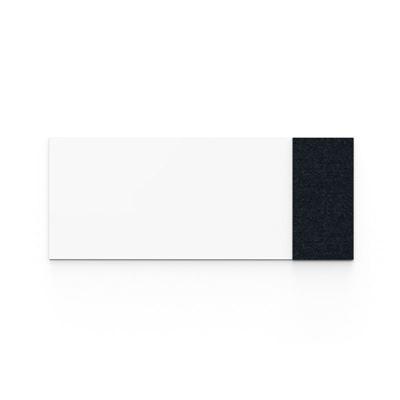 Whiteboard glas Mood Fabric, BxH 2500x1000 mm, vit/svart