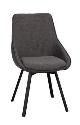 Stol Idar, snurrbar, grå/svart, 2 st/fp