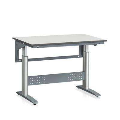 Höj och sänkbart Arbetsbord Vala, LxB 1200x800 mm, grå laminat