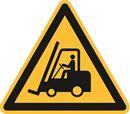 Varningsskylt, trucktrafik, Ø 200 mm, aluminium, 10 st/fp