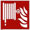 Brandskylt, efterlysande, brandslang, 200x200 mm, aluminium, 10 st/fp