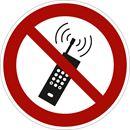 Förbudsskylt, mobiltelefon, Ø 200 mm, aluminium, 10 st/fp