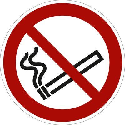 Förbudsskylt, rökning, Ø 200 mm, aluminium, 10 st/fp