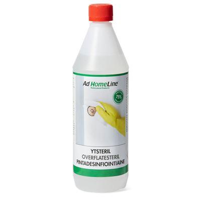 Desinfektionsmedel Ytsteril, 12x1 liter, oparfymerad, 75 % etanol