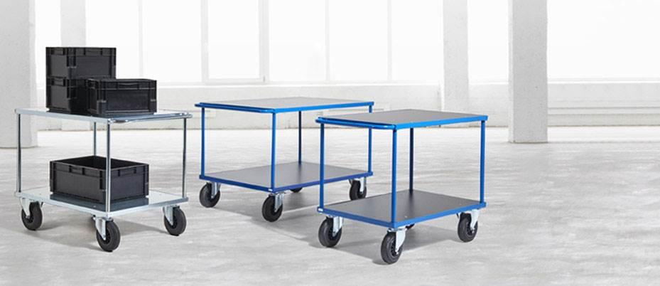Rullvagn Industri Geran, LxBxH 1000x600x870 mm, blå