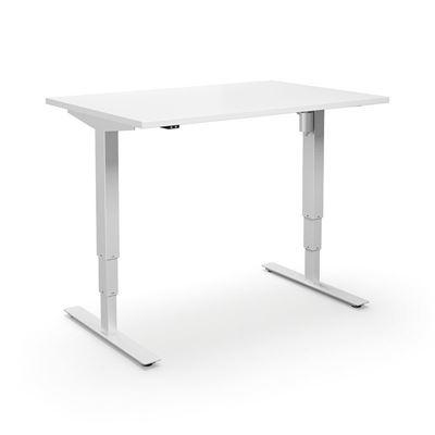 Höj och sänkbart skrivbord  Atlanta, rak, LxB1200x600 mm vit/vit