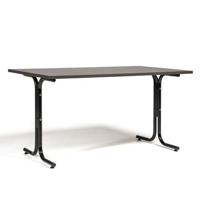 Matsalsbord Vicky Square,  LxB 1400x800 mm mörkgrå/svart