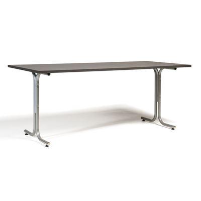 Matsalsbord Vicky Square,  LxB 1800x800 mm mörkgrå/silver