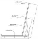 Stålpall Lakka med stöd, LxB 1200x800 mm