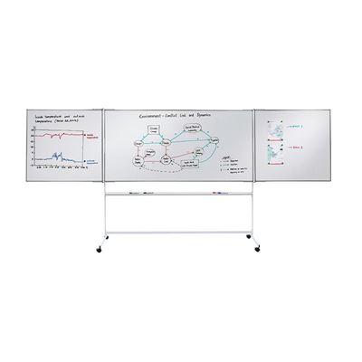 Presentationstavla Lygne, med hjulstativ, BxH 2000x1000 mm