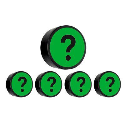 Magnet, grön, frågetecken, D 35 mm, 10 st/fp