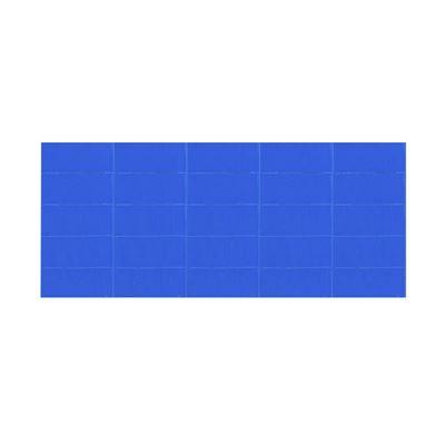 Magnetisk etikett, BxL 22x50 mm, blå, 100 st/fp