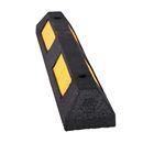 Rullstopp Tavek, gummi, LxBxH 870x152x102 mm, svart/gul