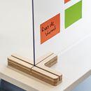 Bordsskärm Myrten, plexi, HxB 590x750 mm, transparent, 10 st eller fler