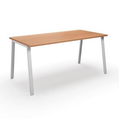 Skrivbord Duo-A, rak skiva, LxB 1800x800 mm, bok/vit