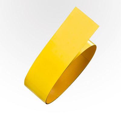 Golvmärkning Rusken, stål, L 6 m/rle, B 75 mm, gul, 5 st eller fler