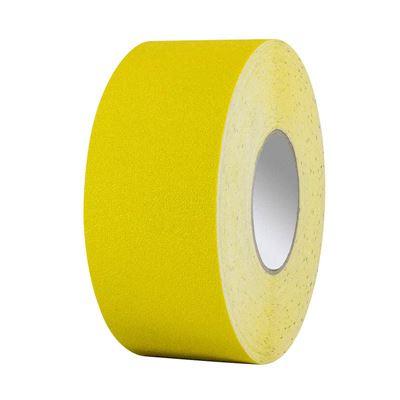 Golvmarkeringstejp Rinnan, vinyl, L 25 m/rle, B 75 mm, gul, 5 st eller fler.