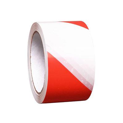 Golvtejp Ran, L 33 m/rle, B 75 mm, röd/vit, 16 rle/fp