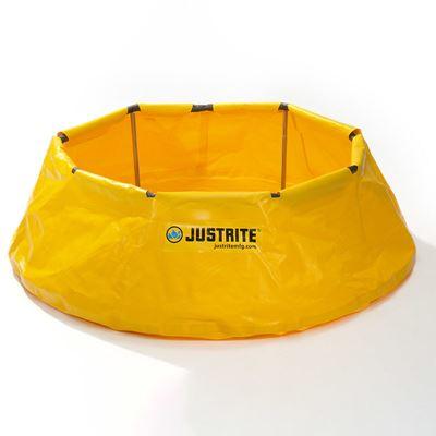 Spilltråg uppfällbar Justrite, Ø 1295 mm, volym 250 liter