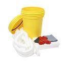 Spillkit i säkerhetstunna, 100-liter, olja utomhus, vit, 2-4 st