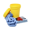 Spillkit i säkerhetstunna, 100-liter, olja inomhus, blå, 2-4 st