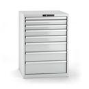 Verktygshurts Lista, 8 lådor, BxDxH 717x725x1000 mm, grå