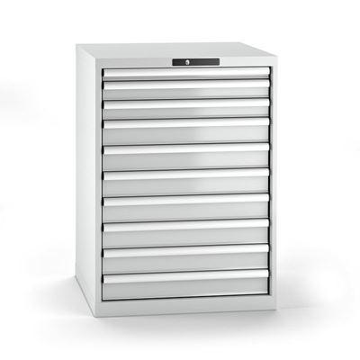 Verktygshurts Lista, 10 lådor, BxDxH 717x725x1000 mm, grå