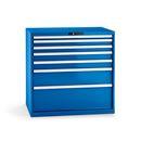 Verktygshurts Lista, 7 lådor, BxDxH 1023x725x1000 mm, blå