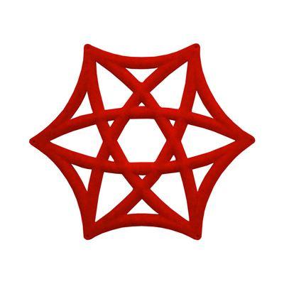 Ljudabsorbent Airflake Line, röd, 10 st/fp