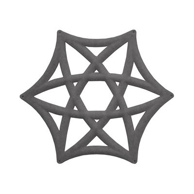 Ljudabsorbent Airflake Line, mellangrå, 10 st/fp