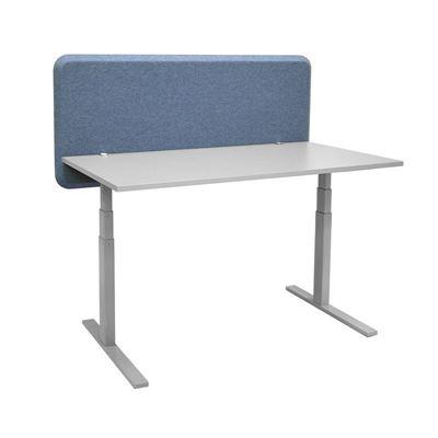 Bordsskärm Domo, LxHxD 2064x650x40 mm, blå