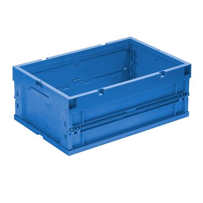 Klappbox Vilmos, LxBxH 600x400x243 mm, blå, 4 st/fp