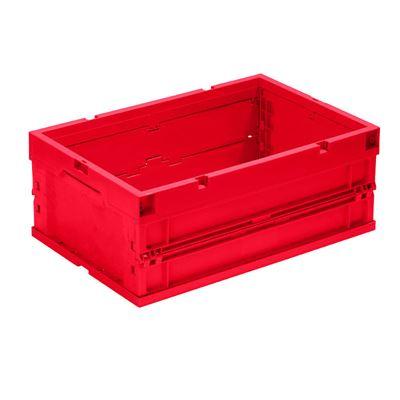 Klappbox Vilmos, LxBxH 600x400x243 mm, röd, 4 st/fp