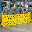 Avspärrningsstaket Toumi, LxH 4000x1016 mm, 16 delar, gul