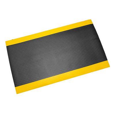 Arbetsplatsmatta Senso Coin, B 1200 mm, svart/gul, per löpmeter
